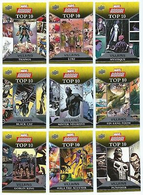 2016 Upper Deck Marvel Annual Top 10 Villains You Pick the Card, Finish Your Set
