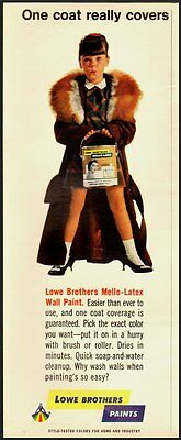 1967 Vintage Ad for LOWE BROTHERS Mello-Latex Wall Paint  (031612)