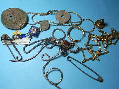 Group of British Metal Detecting Finds Including Some Gold & Silver Items