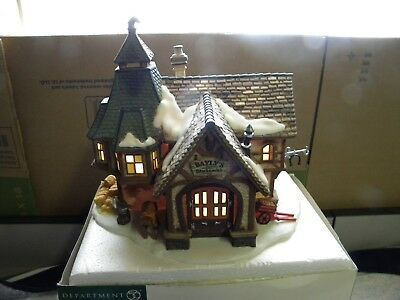 "Dept 56 Dickens Village ""BAYLY'S BLACKSMITH"" #58495. Retired"