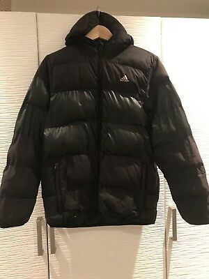 BOYS Black ADIDAS PUFFA JACKET 12/13 Yrs