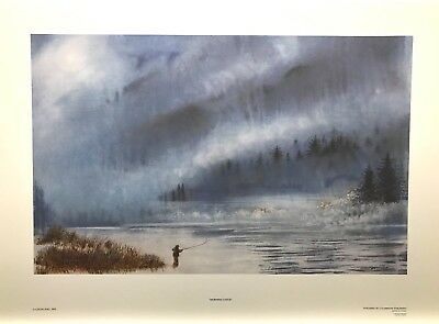 Colin FOO Morning Flyfishing LTD art print mint COA certificate watercolour
