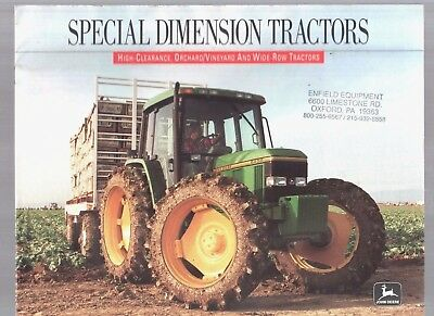 1992 John Deere Tractor Special Orchard High Clearance Wide Row  Brochure