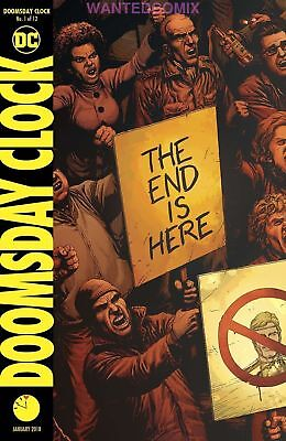 Doomsday Clock #1 Sold Out First Print Cover Dc Comic Book Watchmen 2017 Series