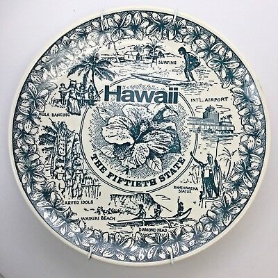 Hawaii the Fiftieth State Collectible Souvenir State Plate