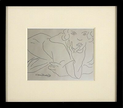 *Superb* Wonderful Pen & Ink Drawing of A Reclining Woman Signed - Matisse