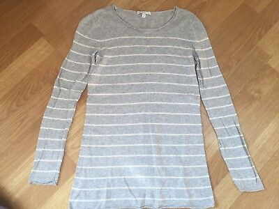 GAP MATERNITY Gray White Striped Sweater XS