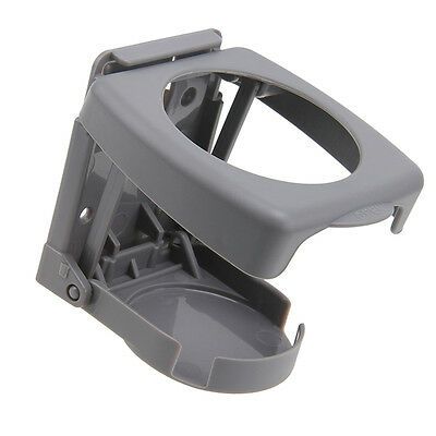Grey Car Auto Truck Folding Beverage Drink Cup Can Bottle Holder Stand Mount