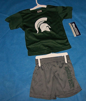 Size 12M Infant Unisex Boys Michigan State University 2 Piece Athletic Set
