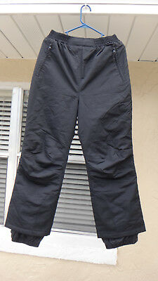 dde59cb182 LL Bean Snow Pants Women's Small Black 0CS62 Waterproof Lined Thermal  Insulation