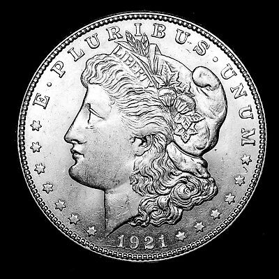1921 D ~**ABOUT UNCIRCULATED AU**~ Silver Morgan Dollar Rare US Old Coin! #H63