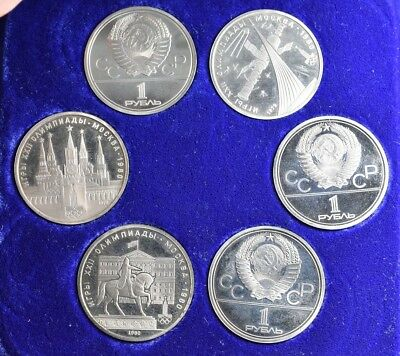1980 USSR Moscow Olympic Games Proof 6 Coin Set - SCARCE!!!