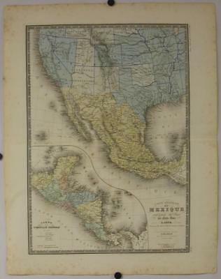 South-Western United States & Post-Independence Mexico 1876 Brué Antique Map