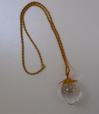 18k Gold STEUBEN STRAWBEERY NECKLACE with 14k Gold Necklace Original Box MINT
