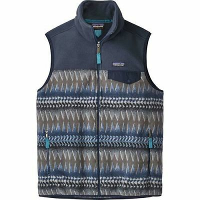 NEW Patagonia Men's Lightweight Synchilla Snap-T Vest - Smolder Blue - Size: L