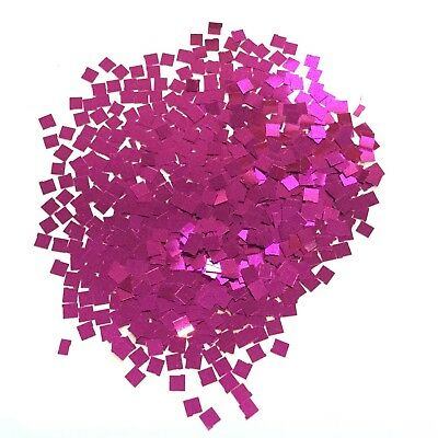 CERISE PINK 3mm SQUARE SEQUIN FESTIVAL BODY/FACE mermaid glitter 10/50/100g