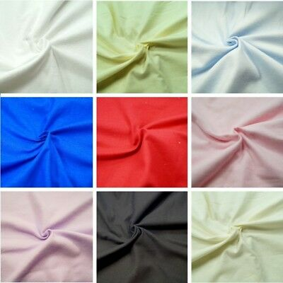 Plain Coloured 100% Cotton Fabric Wincyette Flannel Brushed Cotton