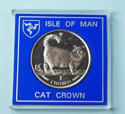 1998 Isle Of Man Crown Coin The Cat Collection Birman Cat With Slip Case