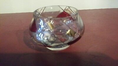 Partylite Stained Glass Mosaic Calypso Votive / Tealight Candle Holder