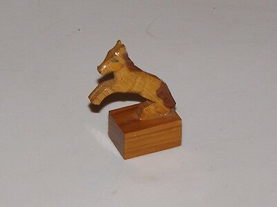 Handmade Wood Jumping Leaping Pencil Sharpener Carved Horse Folk Art Collectible