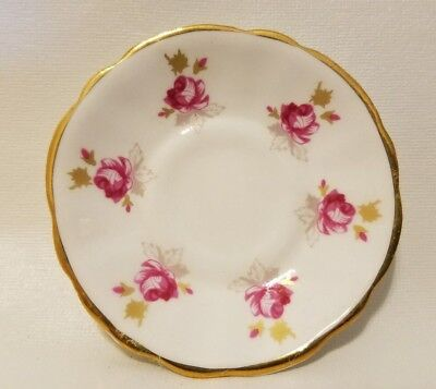Doll Miniature Canadian Superior Fine Bone China Porcelain Tea Saucer 1976-77