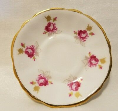 Doll Miniature Canadian Classic Fine Bone China Porcelain Floral Tea Saucer
