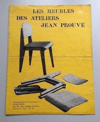 Jean PROUVÉ - Möbel Furniture Meubles Original 1950 / 60 Steph Simon C. Perriand