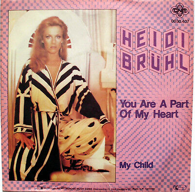 "HEIDI BRÜHL: "" You Are A Part Of My Heart "" 1981 D"