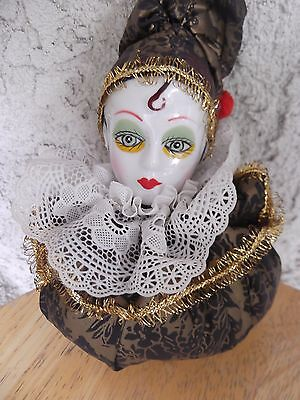 Antique/vintage German Face Porcelain Pin Cushion Doll