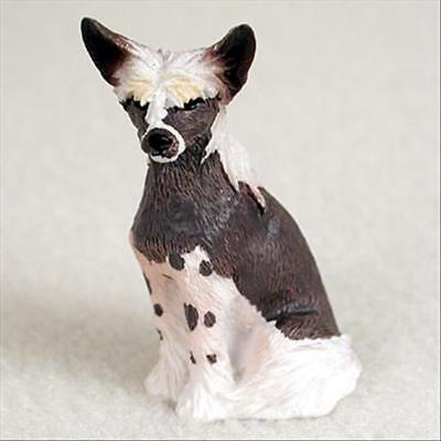 Chinese Crested Dog Tiny One Miniature Small Hand Painted Figurine