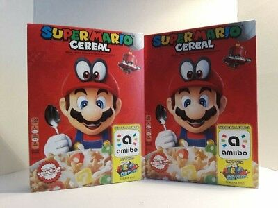 SUPER MARIO CEREAL ODYSSEY FOR NINTENDO SWITCH  LIMITED EDITION AMIIBO In hand!