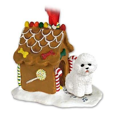 BICHON FRISE Dog Ginger Bread House Christmas ORNAMENT