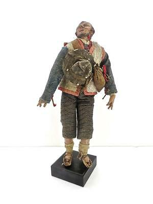 Italian 18c Neapolitan Carved Wood & Polychrome Figure of a Traveling Gentleman