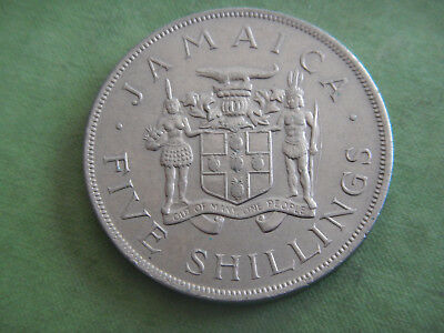 1966 COMMEMORATIVE CROWN SIZE COIN FROM JAMAICA.  39MM 5 Shilling