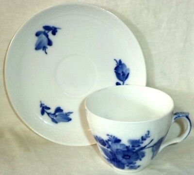 Royal Copenhagen Translucent Cup & Saucer Blue Flowers Made in Denmark