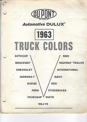 1963 Truck Paint Chips Chevrolet Ford Dodge Gmc Willys Mack International Dupont