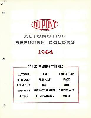 1964 Truck Paint Chips Chevrolet Ford Dodge Jeep (Dupont)