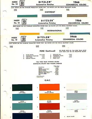 1966 Truck Paint Chips Chevrolet Ford Gmc Jeep Ih Ppg