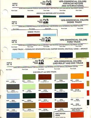1975 Chevrolet Gmc Ford Dodge Luv Jeep International Truck Paint Chips Ppg