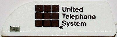 Vintage paper cutter UNITED TELEPHONE SYSTEM block logo Magicutter unused n-mint