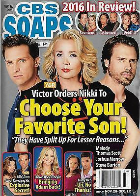 CBS Soaps In Depth Magazine - 2016 Year In Review - The Young & the Restless