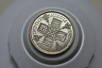 Uk Gb Florin 1936 Silver Amazing Details A72 #k8402