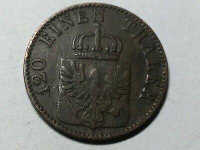 PRUSSIA 1865-A 3 Pfennig coin very nice condition