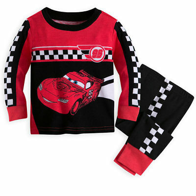 Disney Store Cars Lightning McQueen Baby Boys Pajamas Size 3 6 9 12 18 Months