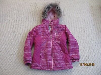 Free Country Radiance Dobby Faux Fur Fleece Lined Parka Pink Girl Medium 10-12