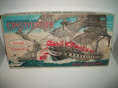 USS Constitution Wood Ship Model Old Ironsides By Scientific