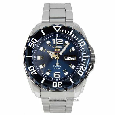 Seiko Watch 5 Sports Baby Monster Silver Mens SRPB37J1 UK