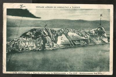 JRE Early (Pre WWI?) Flandrin Aerial Postcard, The Water Catchments, Gibraltar