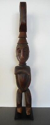 Large Old Nigerian African Tribal Carved Female Figure / Statue