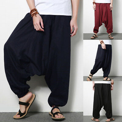 INCERUN Men Japanese Style Loose Harem Baggy Pants Fashion Wide Legs Trousers